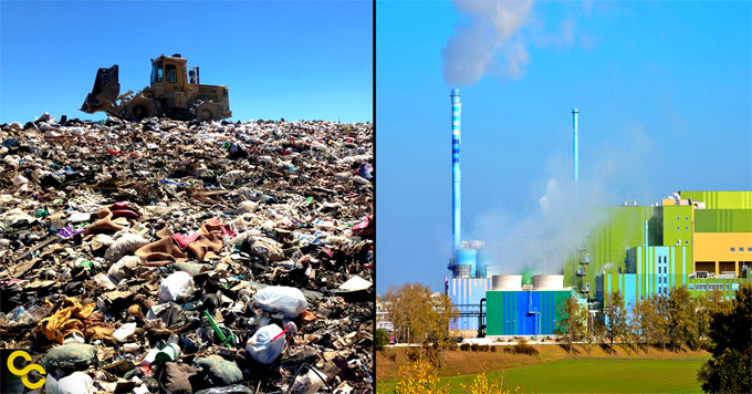 Landfill and waste-to-energy plant