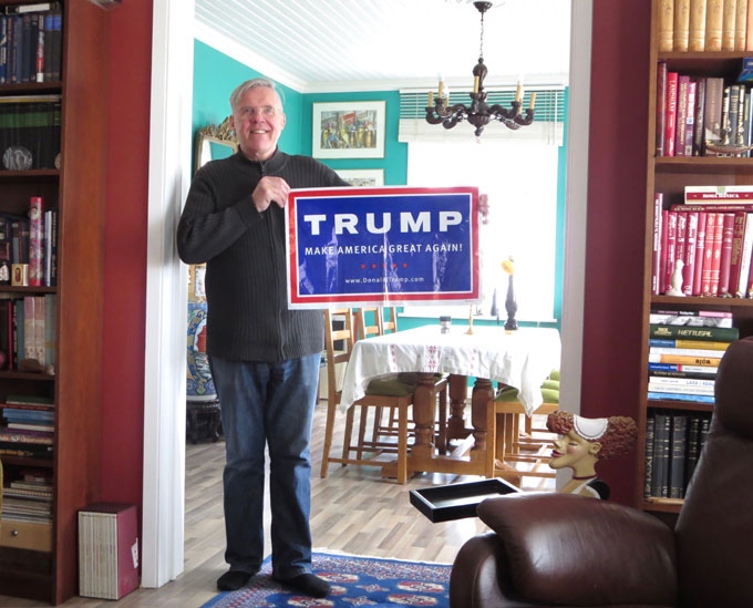 Photo with Trump sign