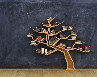 Tree with books image
