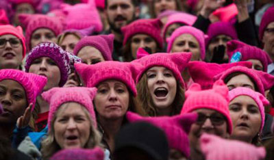 Pink protest hats