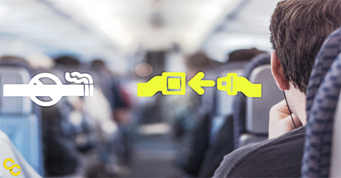 Airplane seat belt image