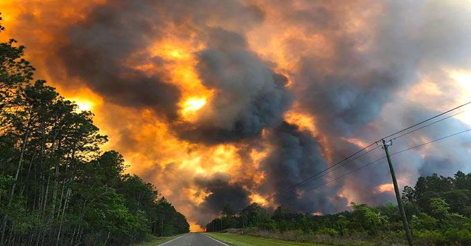 Fire near Georgia Rt 94