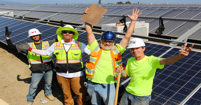 Richmond solar construction crew
