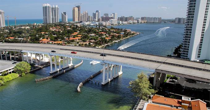 Miami coast