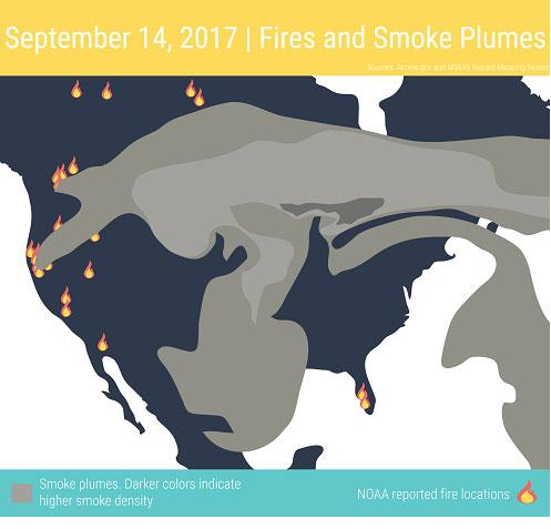 Smoke plume map