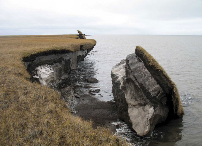 Permafrost block