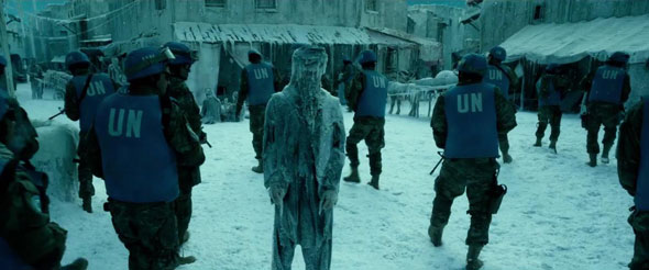 Geostorm frozen village