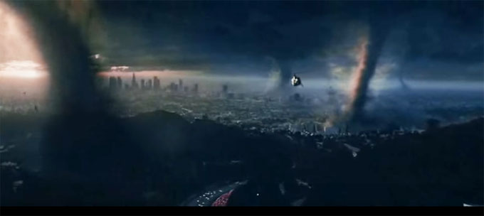 Tornado scene from The Day After tomorrow
