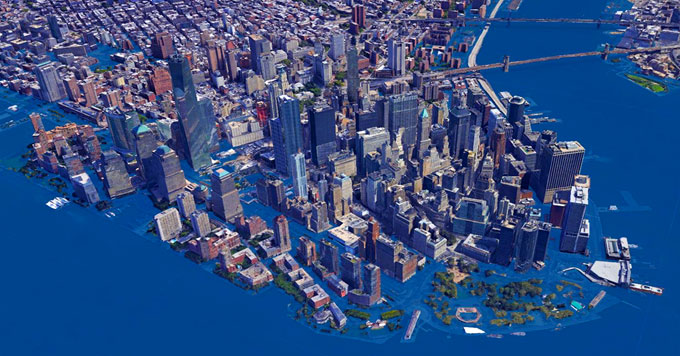Sea-level rise rendering