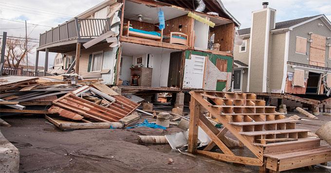 Superstorm Sandy hurricane damage