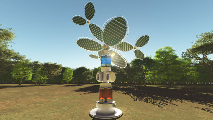 Artificial solar tree