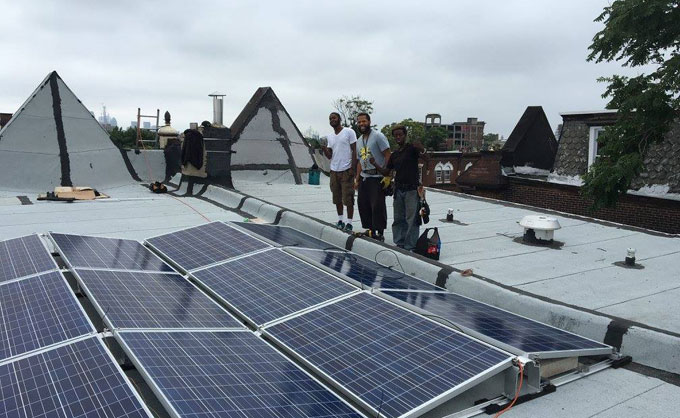 Completed solar installation