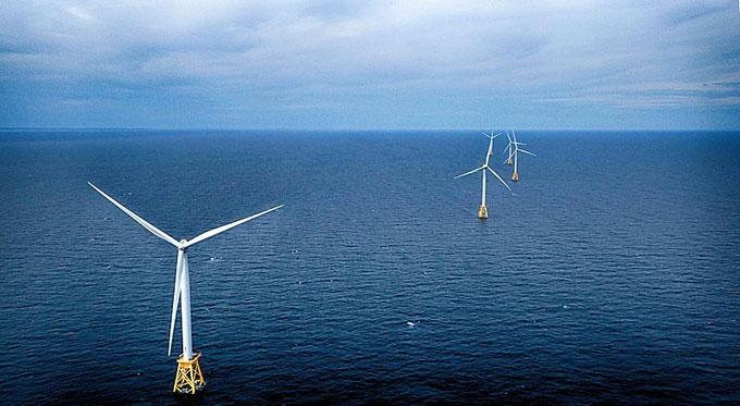 Block Island offshore wind turbines