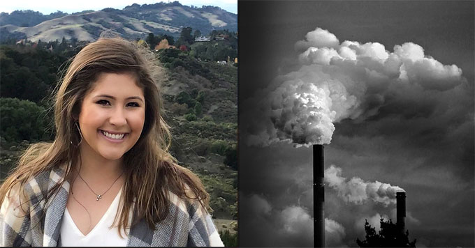 Emily Collins and smokestacks image