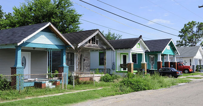 Homes in Lower 9th Ward