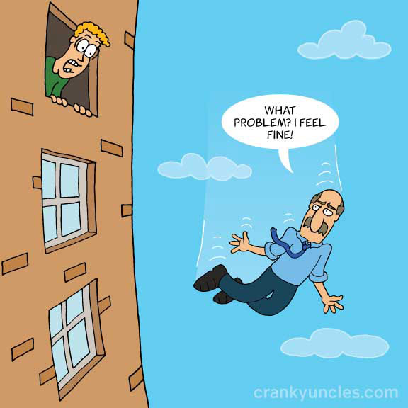 Cartoon on falling