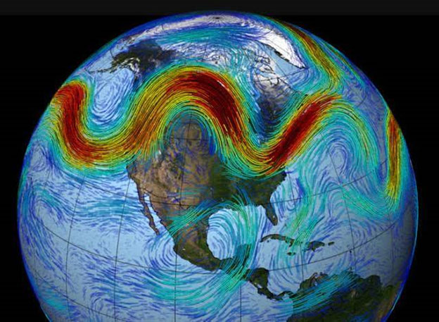 Jet stream pattern