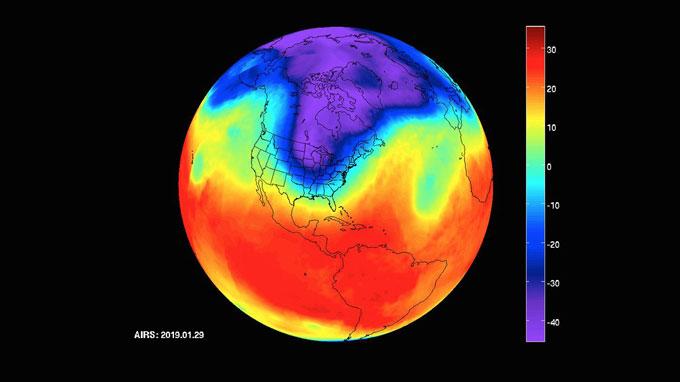 NASA polar vortex image