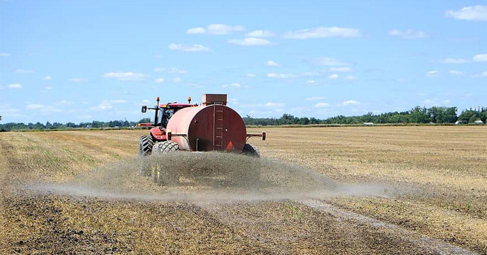 Spraying crop