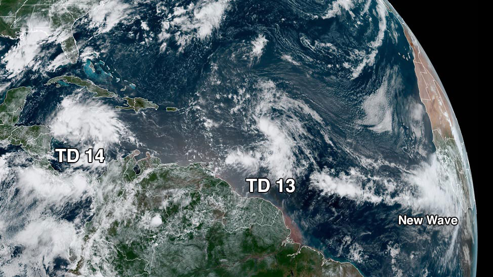 Tropical Depressions 13 and 14
