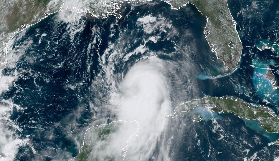Laura satellite image