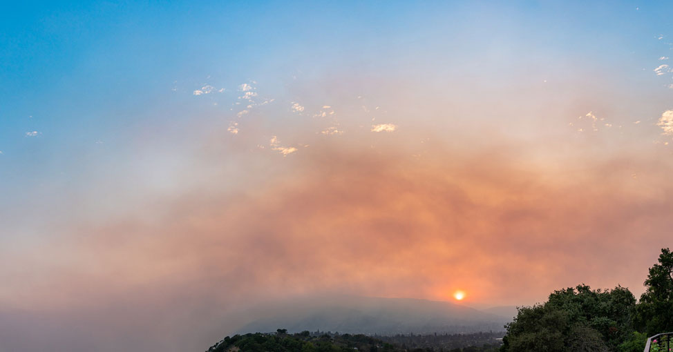 Smoke from CA fire