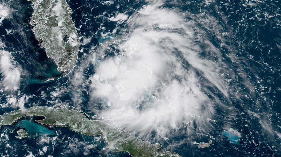 Satellite image of 96L