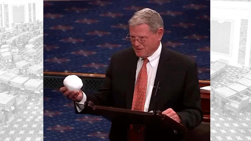 Inhofe with snowball