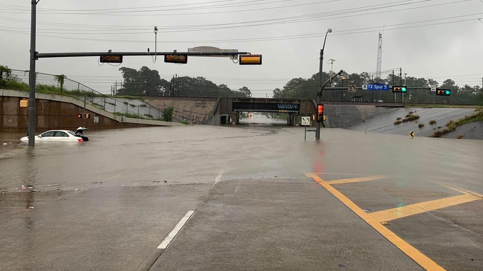Houston flooding from Beta