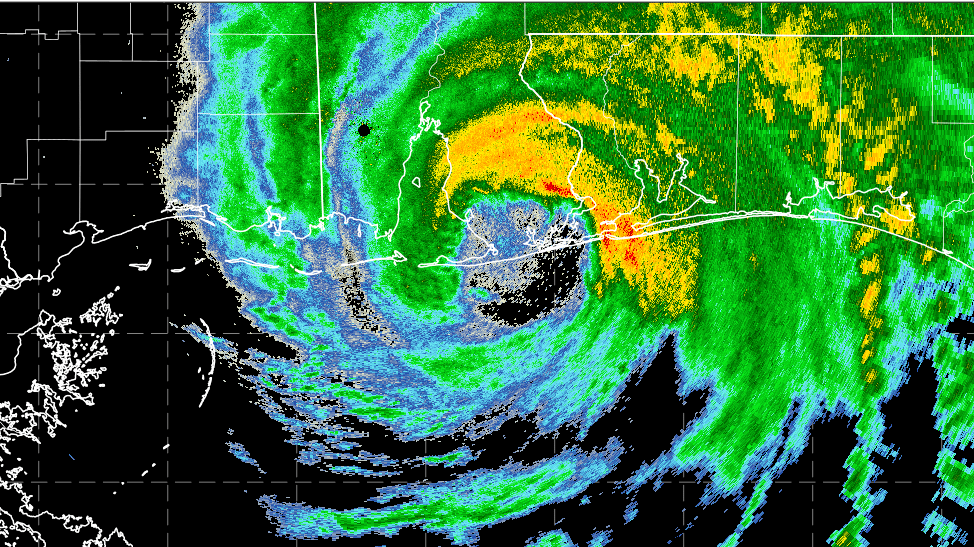 Hurricane Sally radar image