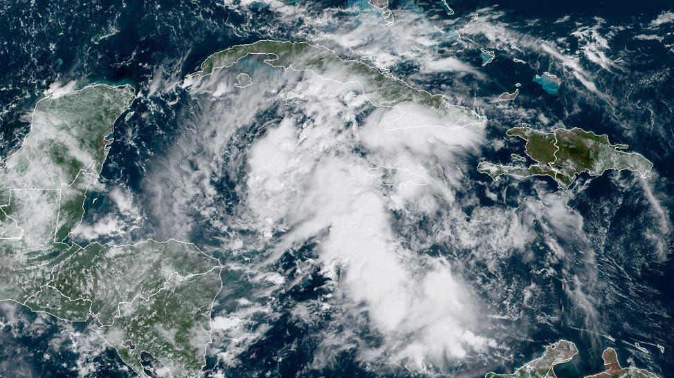 95L satellite image