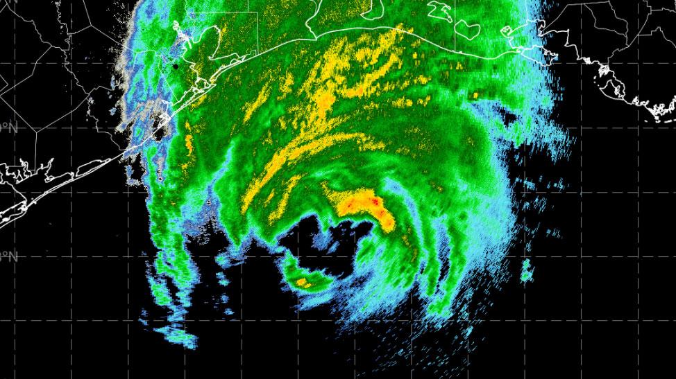 Hurricane Delta radar image