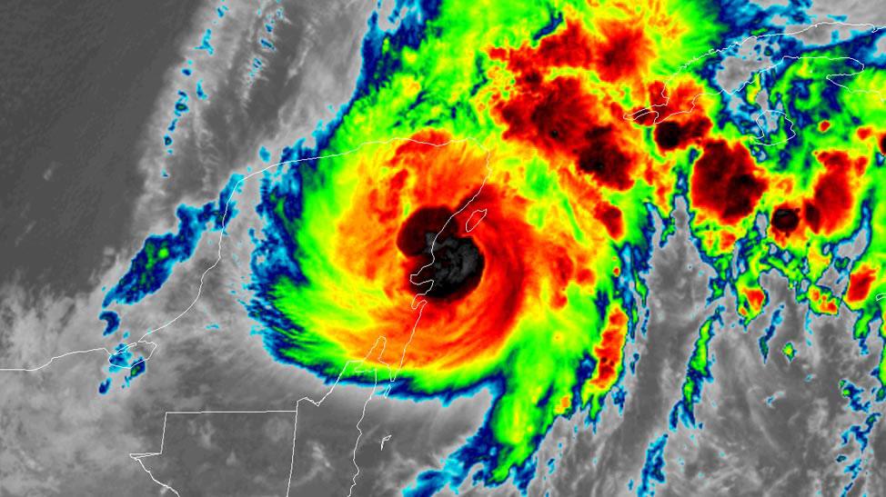 Tropical Storm Gamma satellite image