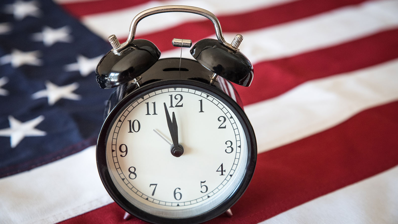 Clock and flag