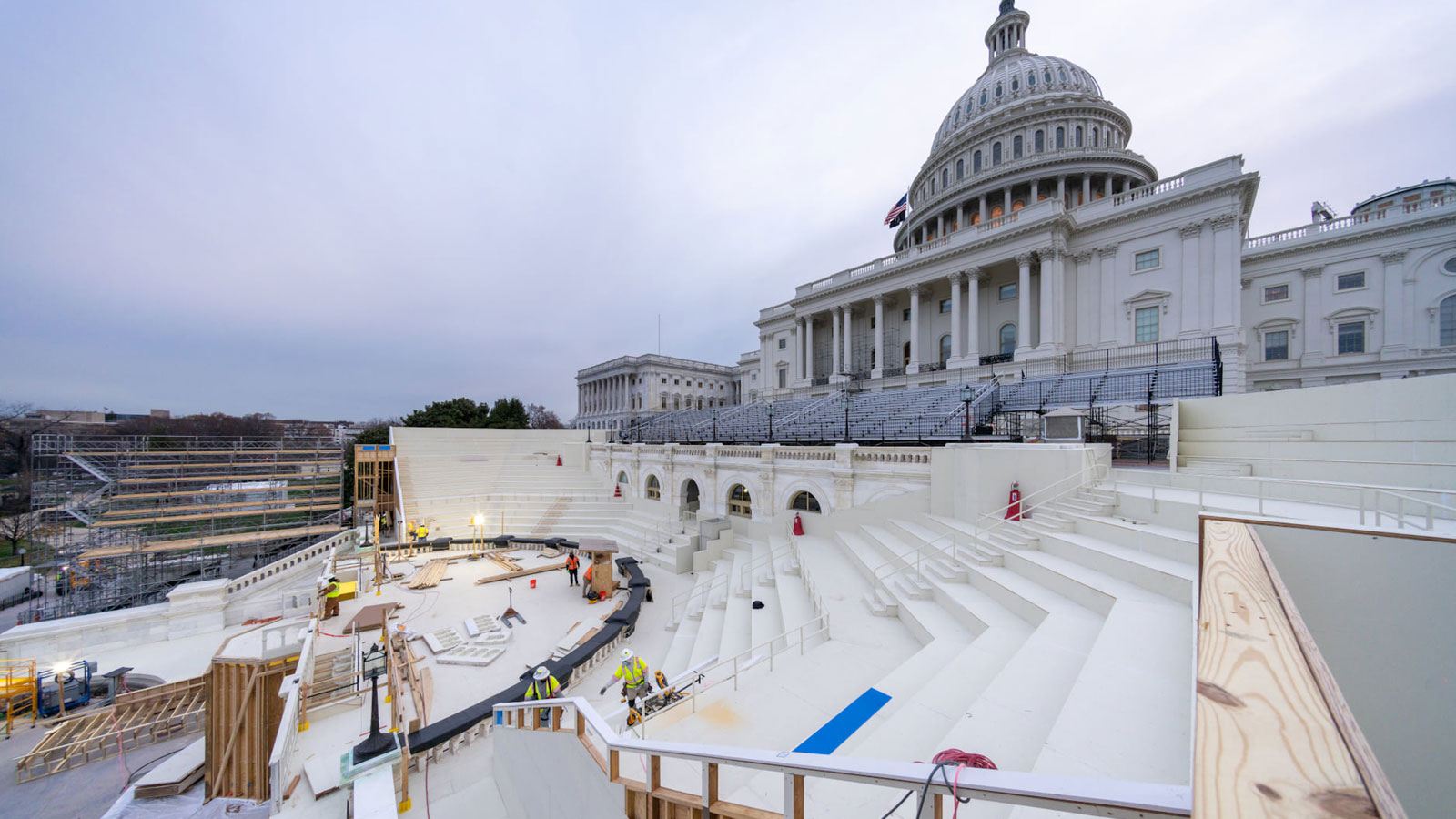 Preparing for inauguration
