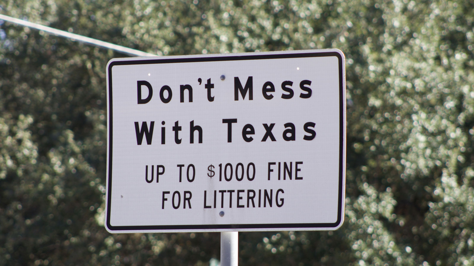 Don't mess with Texas sign