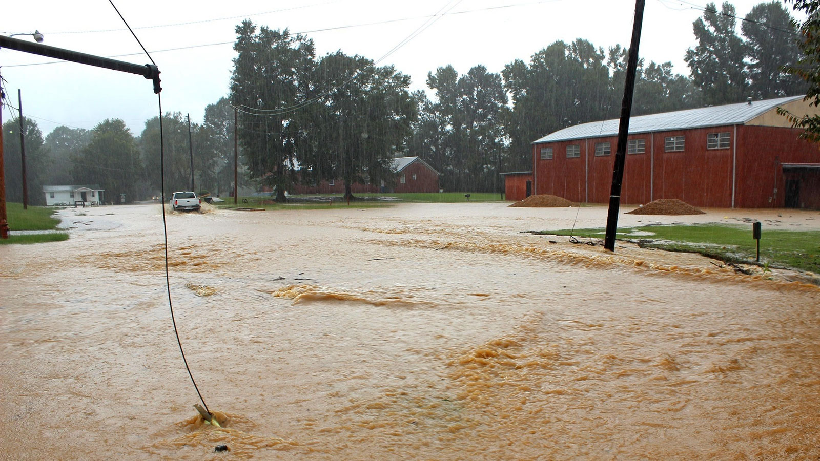 Duck Hill Main Street flooding