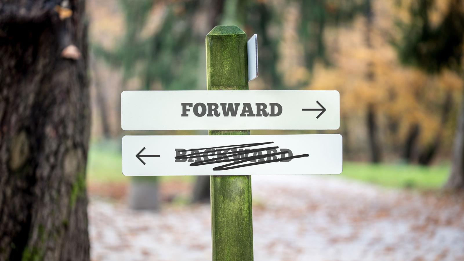Backward forward sign