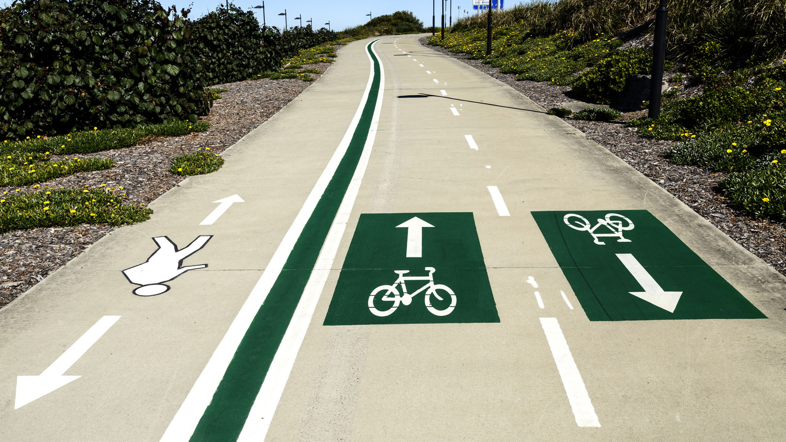 Bike and pedestrian lanes