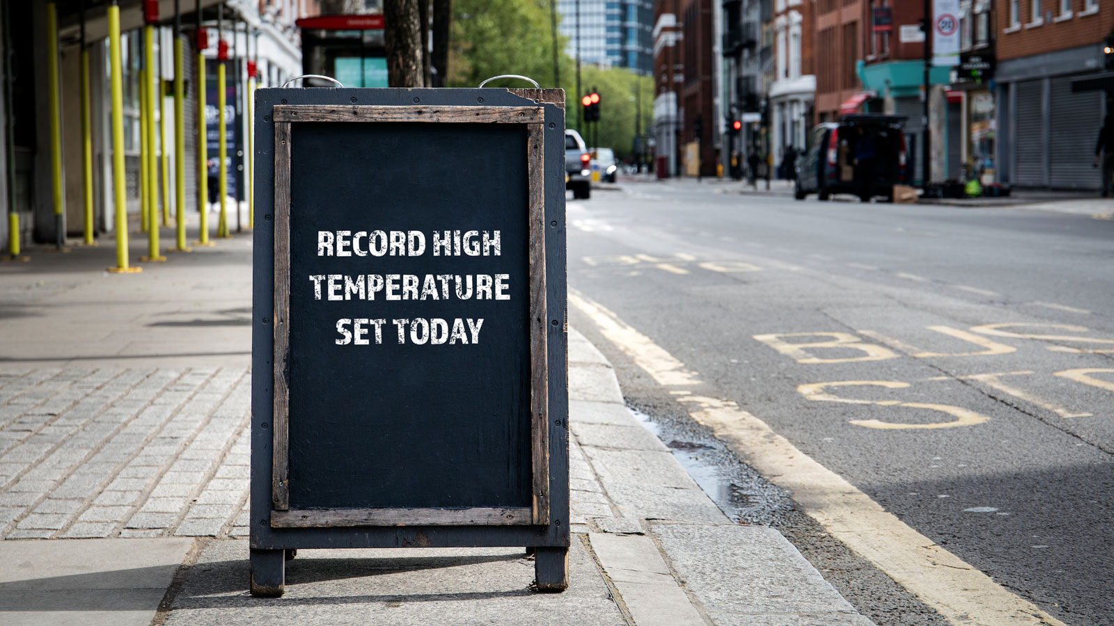 Record high temps sign